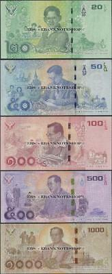 Thailand,PNew,2017,5 NOTE SET 20 to 1000 Baht,UNC,Commemorative @ EBS