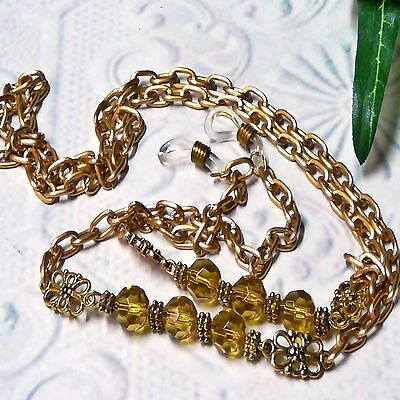 Reading Eye glasses, Sunglasses, spectacle chain lanyard - Gold on Gold chain