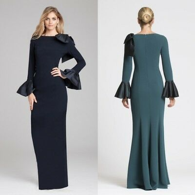Long Sleeve Mother of the Bride Dress Women Party Gowns Size 2-24W Custom Made