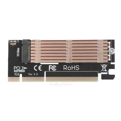M Key M.2 NVMe SSD NGFF to PCIE 3.0 X16/X4  Expansion Card Adapter with Heatsink