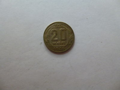 Old Russia USSR Coin - 1946 20 Kopeks - Circulated