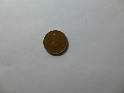 Old Zimbabwe Coin - 1989 1 Cent - Circulated