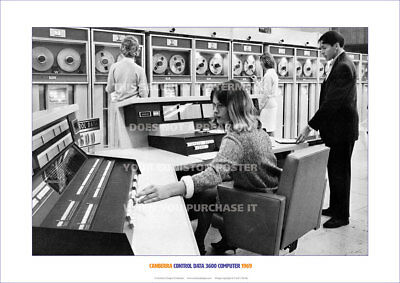CANBERRA CONTROL DATA CDC3600 COMPUTER 1969 - HERITAGE A3 POSTER PRINT PICTURE x