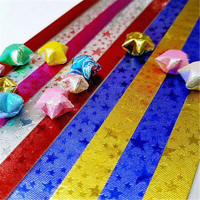 85pcs Funny Origami Lucky Star Paper Strips Folding Paper Ribbons Colors Gifts