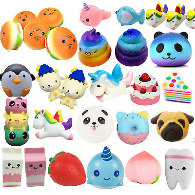 Jumbo Squishies Scented Charms Cute Squishy Squeeze Slow Rising Toy Collection