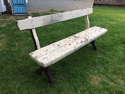 Vintage Garden Bench Length In Good Strong Sturdy Condition.161 cm