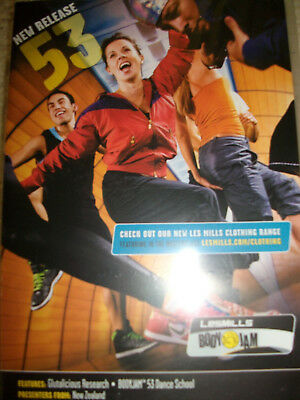 Les Mills Body Jam 53 Dvd Cd Notes Gym Workout Disco Latin Dance Exercise