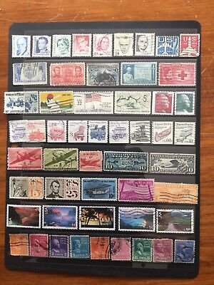 53 Used Stamps From U.s.a