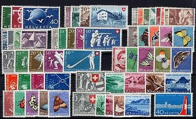 P51139/ Suisse / Switzerland / Lot 1949 – 1953 Neuf ** / Mint Mnh 168 €