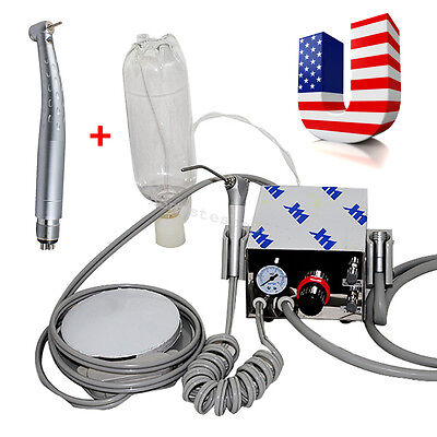 USA Dental Air Turbine Unit work with Compressor 4 Hole LED High Speed Handpiece