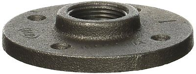 "1"" Malleable Iron Pipe Floor Flange Threaded Fitting, Black - Pack of 10"