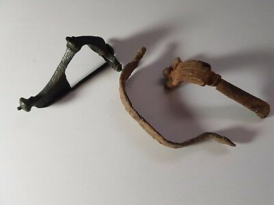 Very interesting lot of  Roman Ancient Iron-Bronze Fibula Brooch 200-300 A.D.