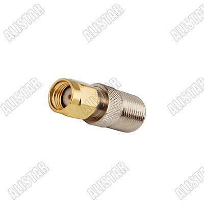 10Pcs of Adapter RP SMA Male Plug to F Type Jack Female Coaxial RF Connector