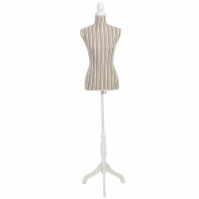 Goplus Female Mannequin Torso Dress Form Display W/ White Tripod Stand
