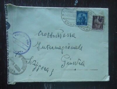 Italy Ww2 1945 Stamp Cover Military Mail Opened By Censor To Switzerland