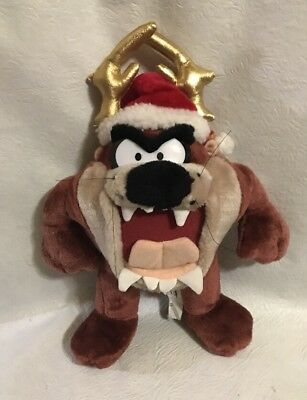 "PLAY BY PLAY LOONEY TUNES Tasmanian Devil Taz W/Santa Hat 12"" Plush Stuffed Toy"