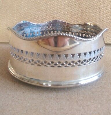 Victorian Silver Plated Wine Bottle Coaster