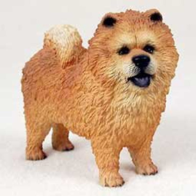 Chow Chow Dog Figurine - Red