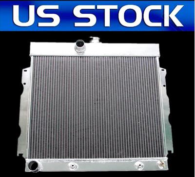 "1968-1973 Plymouth Belvedere All Aluminum 2 Row 1/"" Tubes KR Champion Radiator"