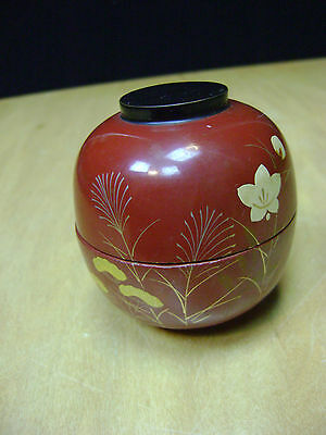 Tame Lacquer Wooden Tea caddy Japanse Traditional
