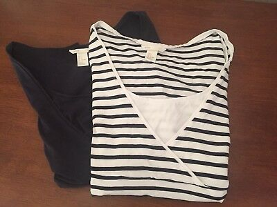 H&M MAMA 2-pack Nursing Tops Size Small
