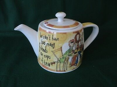 JOHNSON BROTHERS BORN TO SHOP TEAPOT *you can't have too many friends or cups of