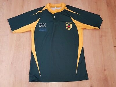 Niagara Old Boys - South African Rugby shirt - Green/Yellow - Size Medium