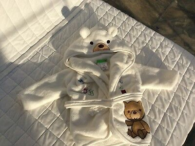 Jack and Gill, Teddy bear Dressing Gown 0-6 Months Baby Soft Warm Gift Christmas