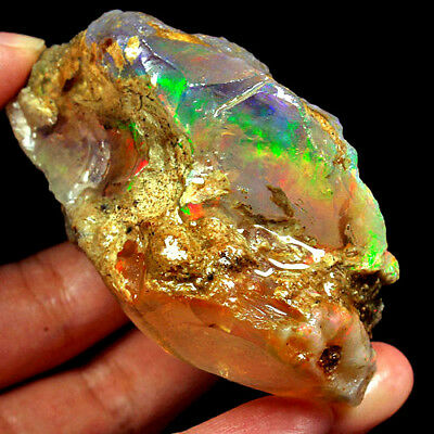 WOW Rarest 540CT 100% Natural Ethiopian Welo CRYSTAL Opal Rough