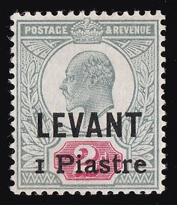 BRITISH LEVANT 1906 Beirut Provisional KEVII 1pi/2d CERTIFICATE ONLY 600 PRINTED