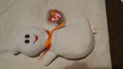 1995 TY Beanie Baby Spooky Style 4090 the Halloween Ghost w Tags