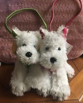 Both Westie  Aloha  (green) And Surfs up (pink) Little Purse