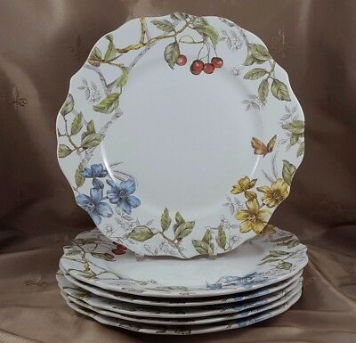 PIER 1 Imports  SOFIE the BUNNY PLATES Dinner LARGE SET OF 6  EXCELLENT