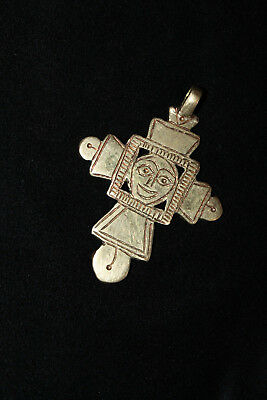Kreuz-Anhänger koptisch orthodox Messing. Ethiopian: Cross pendant, brass