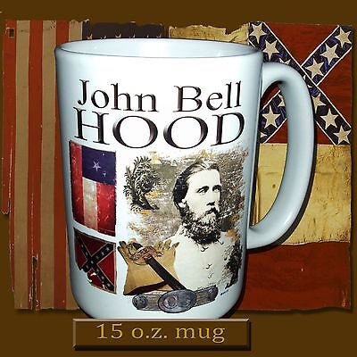 NEW Southern General John Bell Hood, American Civil War theme 15 oz. mug