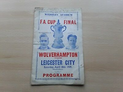 1949 FA Cup Final Wolves v Leicester pirate programme