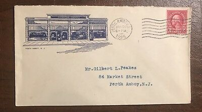 1925 Carretson Co. Packard Fort Automobile Perth Ambit N.J Cover Envelope