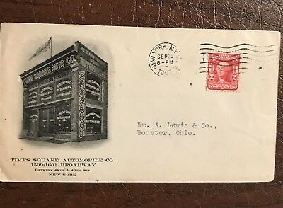 Times Square Automobile Company Cover Envelope New York Ny.