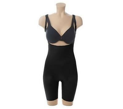 Spanx Slimplicity Open Bust Bodysuit BLACK SIZE LARGE NWT