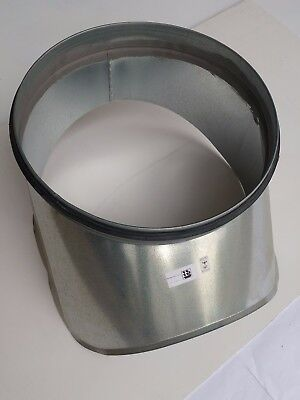Spirasafe Ventilation Ducting 400mm onto 315mm Curved Boot Shoe Take-off - Qty 6