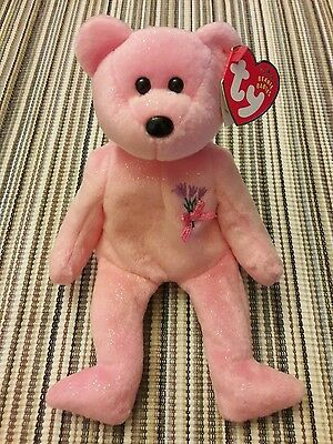 Mint Retired Ty Beanie Babies Mum the Bear May 13, 2001 Mother's Day Baby Mom