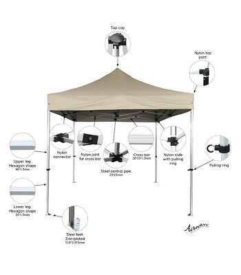 Airwave Four Seasons Commercial Plus Pop Up Gazebo with Sides - Various Options