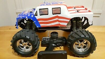 Smartech gas nitro 1/8 monster truck for parts or repair. Not kyosho tamiya.