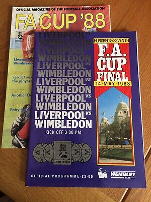 Liverpool v Wimbledon Football FA Cup Final Programme 1988