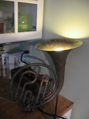 Unique Fabulous Antique French Horn Spotlight/ Lamp