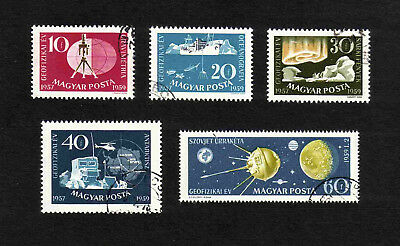 Hungary 1959 Int. Geophysical Year Achievements/ Sputnik short set of 5v. used