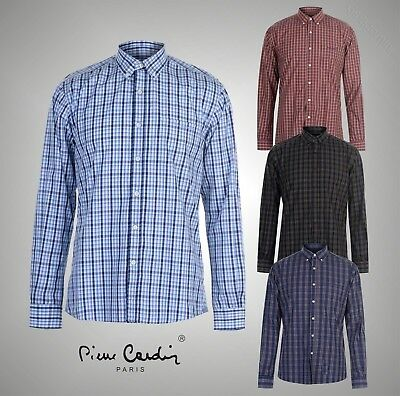 Mens Branded Pierre Cardin Lightweight Small Gingham Short Sleeve Shirt