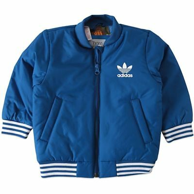 adidas Originals Infants Basketball Jacket Blue RRP £45 BNWT AJ0227