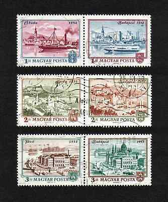 Hungary 1972 Unification of Buda, Obuda & Pest full set of 6v (SG 2719-24) used