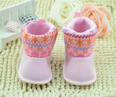 Baby boots pink cute lucky warm winter boots Girl Baby Soft Kid Shoes size 2 UK